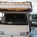Rifacimento tetto Camper
